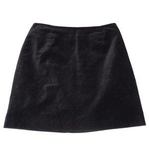 GAP Black Velvet Mini Skirt